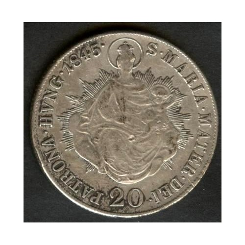 HUNGARY 20 Krajczar 1845 AG