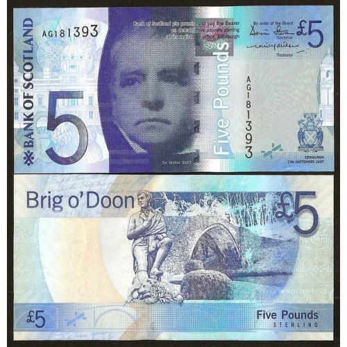 SCOTLAND 5 Pounds 2007