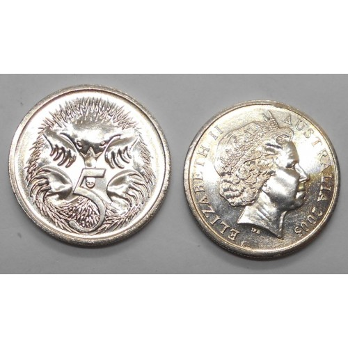 AUSTRALIA 5 Cents 2005