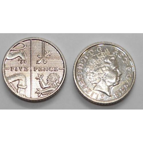 GREAT BRITAIN 5 Pence 2013