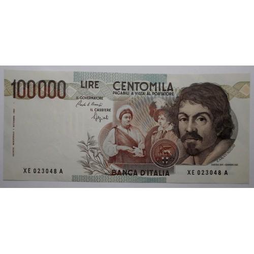 100.000 LIRE CARAVAGGIO 1°...