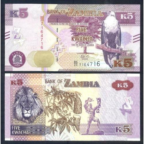 ZAMBIA 5 Kwacha 2020