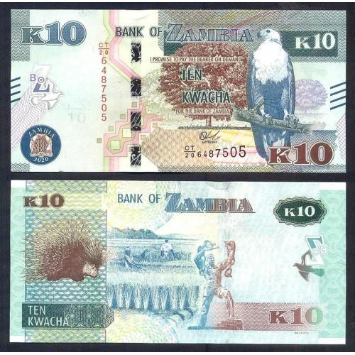 ZAMBIA 10 Kwacha 2020