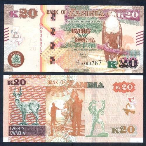 ZAMBIA 20 Kwacha 2020