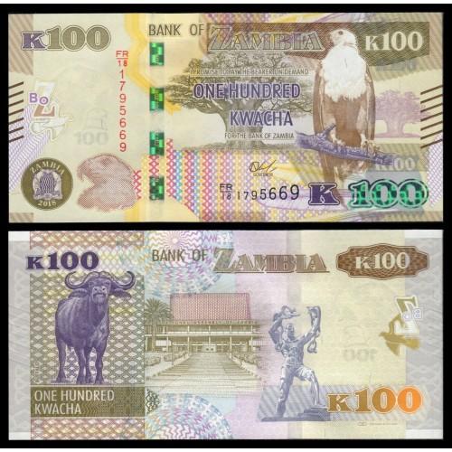 ZAMBIA 100 Kwacha 2018