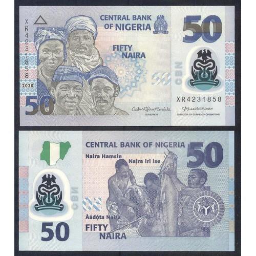NIGERIA 50 Naira 2020 Polymer
