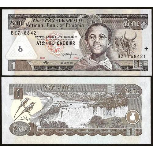 ETHIOPIA 1 Birr 2000