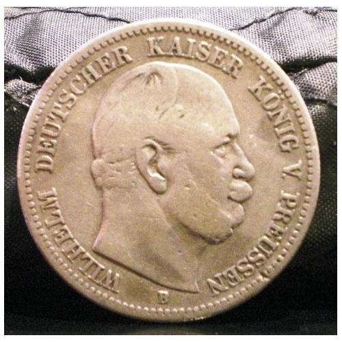 PRUSSIA 2 Mark 1876 B