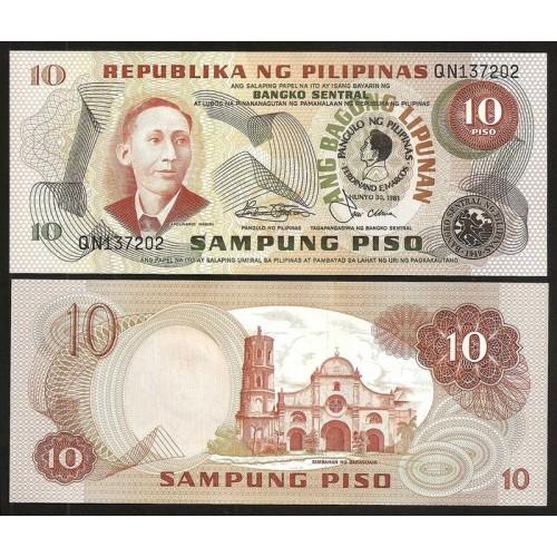 PHILIPPINES 10 Piso 1981