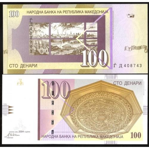 MACEDONIA 100 Denari 2004