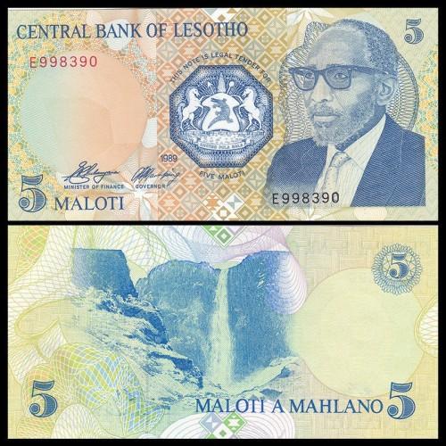 LESOTHO 5 Maloti 1989