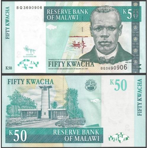 MALAWI 50 Kwacha 2009
