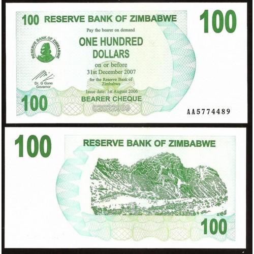 ZIMBABWE 100 Dollars 2006