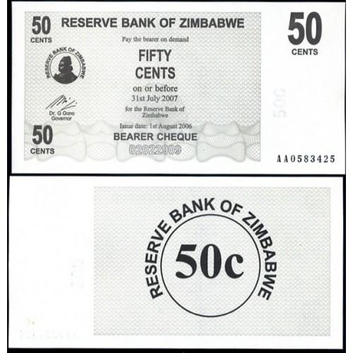 ZIMBABWE 50 Cents 2006 (2007)