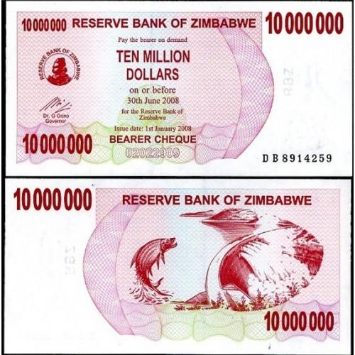 ZIMBABWE 10.000.000 Dollars...