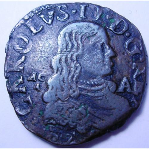 NAPOLI CARLO II Grano 1677
