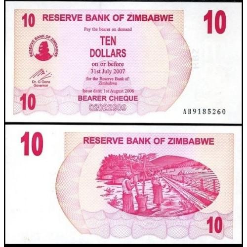 ZIMBABWE 10 Dollars 2006