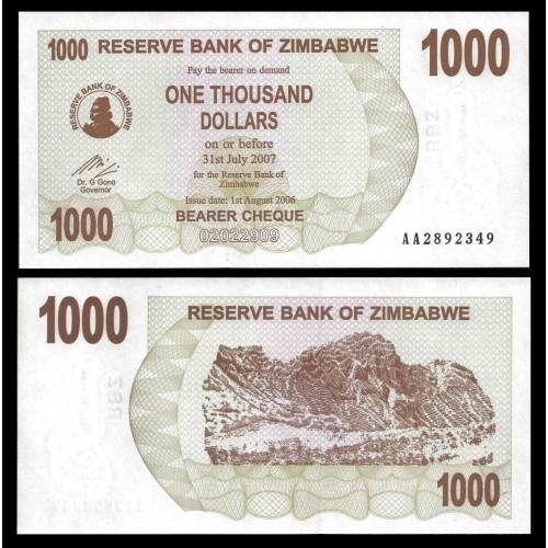 ZIMBABWE 1000 Dollars 2006