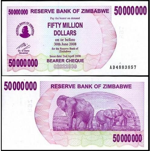 ZIMBABWE 50.000.000 Dollars...