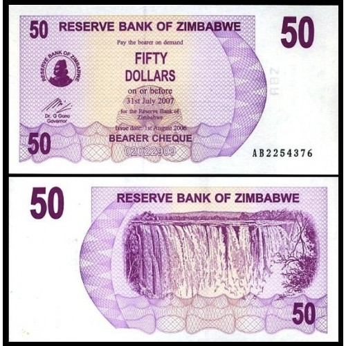 ZIMBABWE 50 Dollars 2006