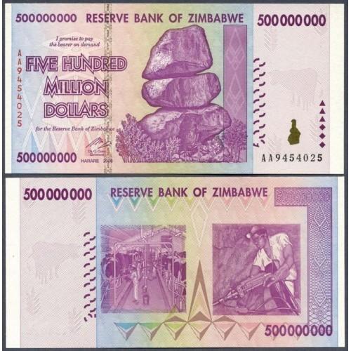 ZIMBABWE 500.000.000...