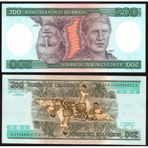 BRAZIL 200 Cruzeiros 1984
