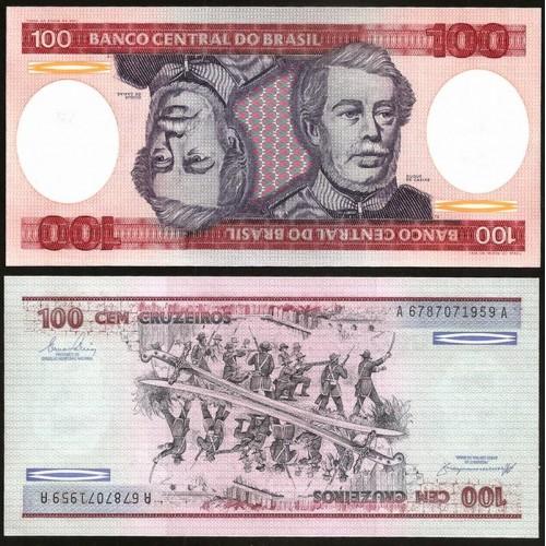 BRAZIL 100 Cruzeiros 1984