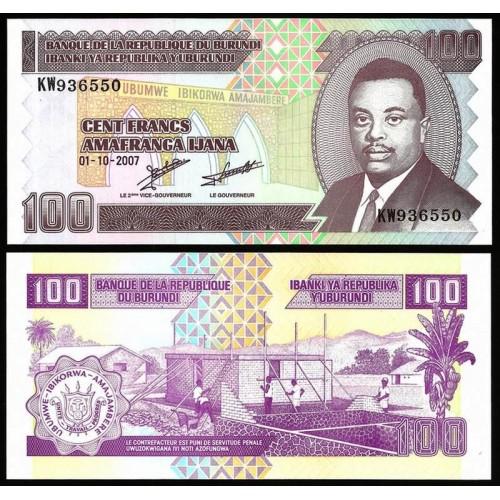 BURUNDI 100 Francs 2007