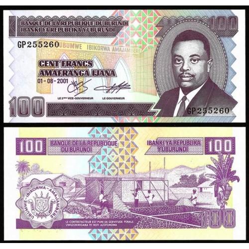 BURUNDI 100 Francs 2001
