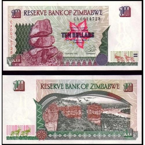 ZIMBABWE 10 Dollars 1997