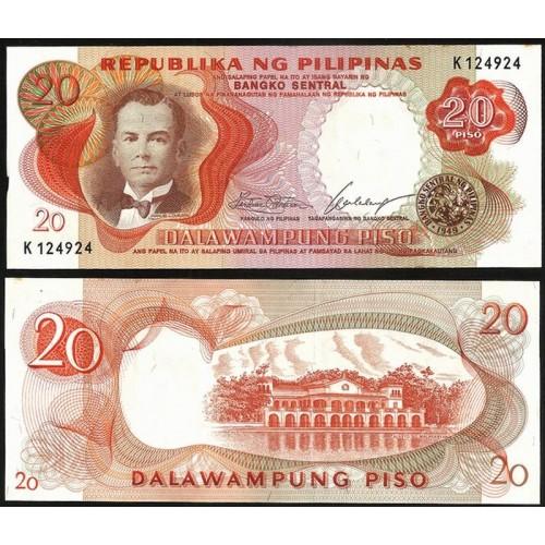 PHILIPPINES 20 Piso 1969