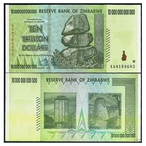 ZIMBABWE 10 Trillion...