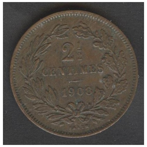 LUXEMBOURG 2 1/2 Centimes 1908
