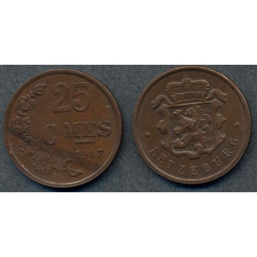 LUXEMBOURG 25 Centimes 1947