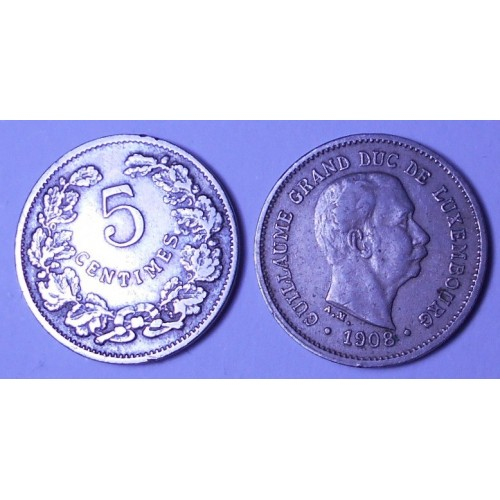 LUXEMBOURG 5 Centimes 1908