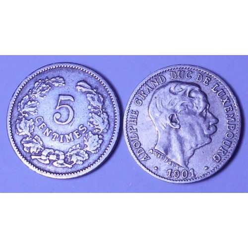 LUXEMBOURG 5 Centimes 1901
