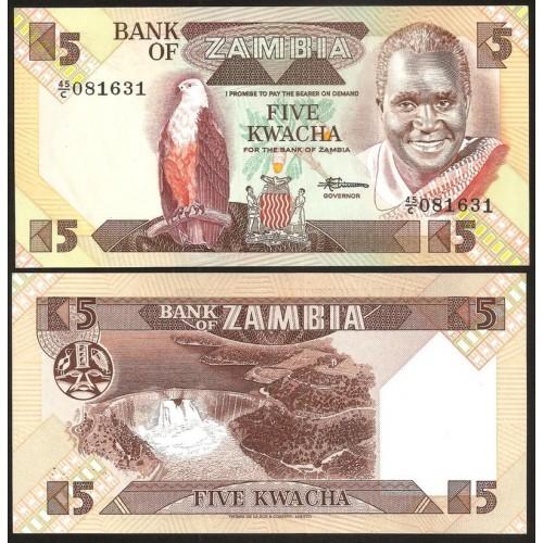 ZAMBIA 5 Kwacha 1986/88