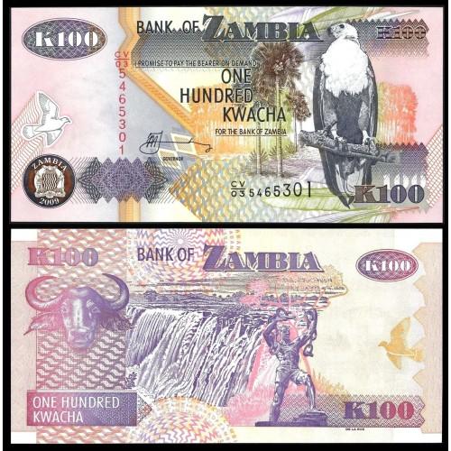 ZAMBIA 100 Kwacha 2009