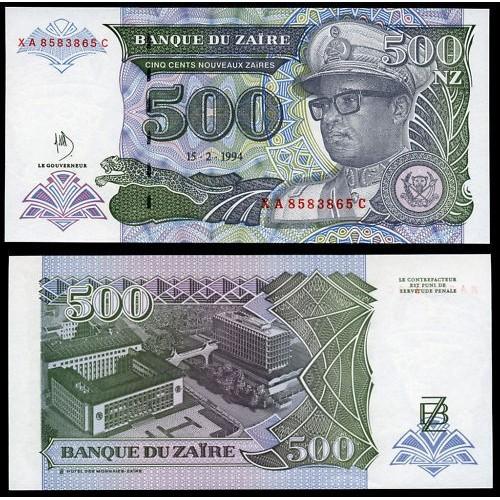 ZAIRE 500 Nouveau Zaires 1994
