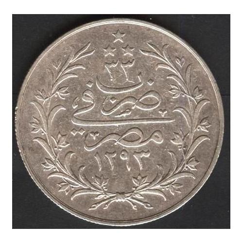 EGYPT 10 Qirsh AH 1293/33...