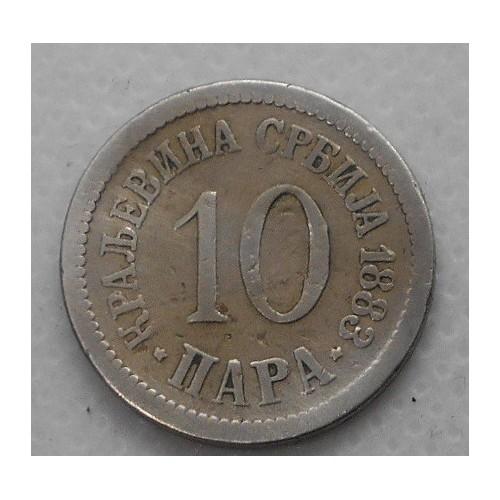SERBIA 10 Para 1883