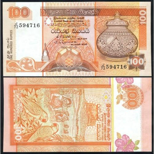 SRI LANKA 100 Rupees 1992
