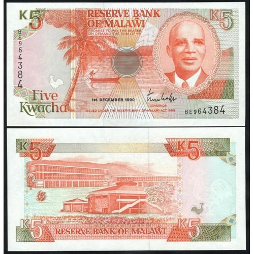 MALAWI 5 Kwacha 1990