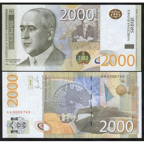 SERBIA 2000 Dinara 2011