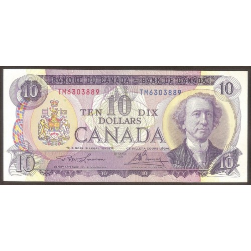 CANADA 10 Dollars 1971