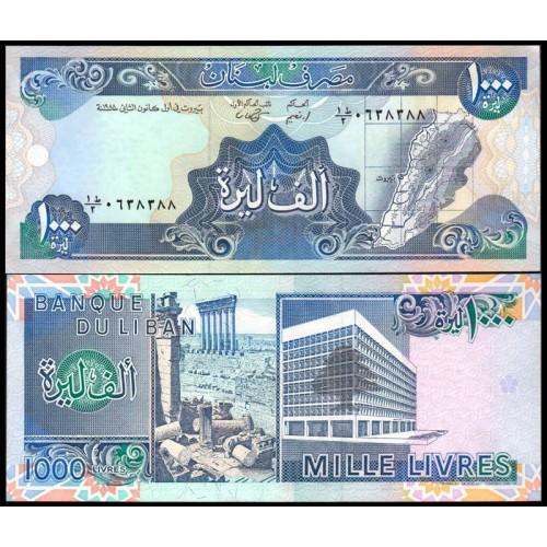 LEBANON 1000 Livres 1988