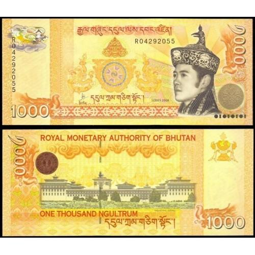 BHUTAN 1000 Ngultrum 2008