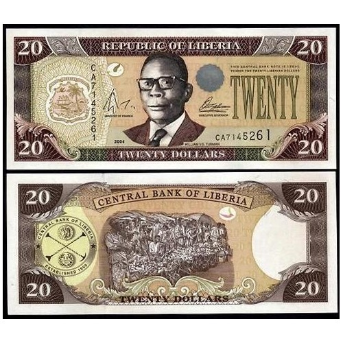 LIBERIA 20 Dollars 2004