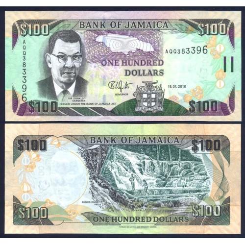 JAMAICA 100 Dollars 2010