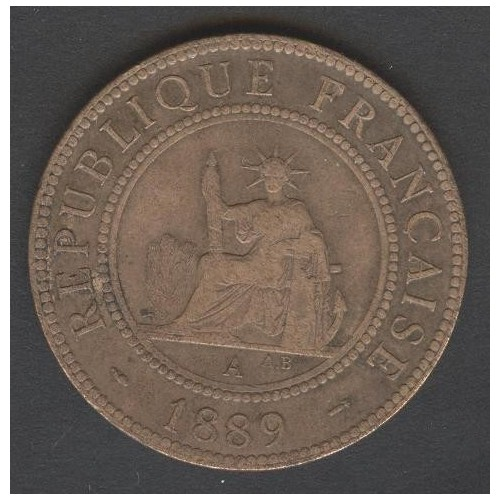 FRENCH INDOCHINA 1 Cent 1889